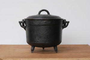 Antieke Franse kookpotten